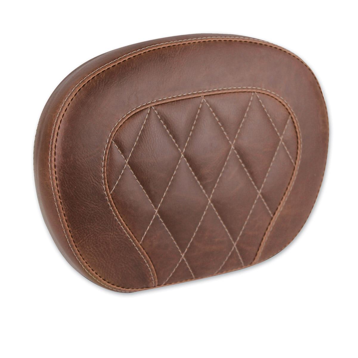 Mustang Diamond Stitch Distressed Brown Setback Sissy Bar Pad