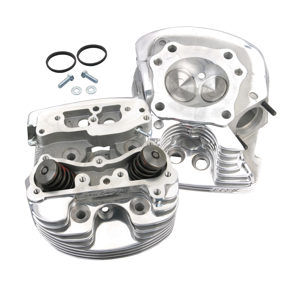 S&S Cycle 4-1/8″ Bore V-Series Cylinder Heads Polished