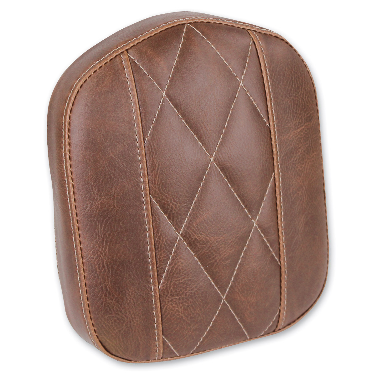 Mustang Diamond Stitch Bracket Style Brown Sissy Bar Pad