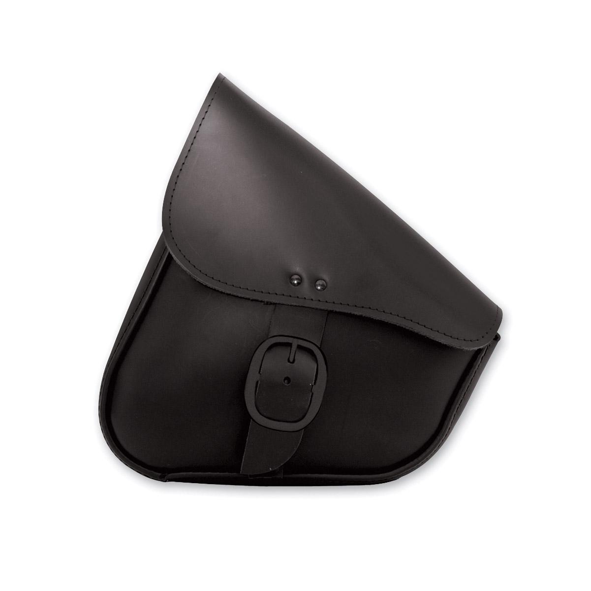 Willie & Max Black Leather Swingarm Bag with Black Buckle