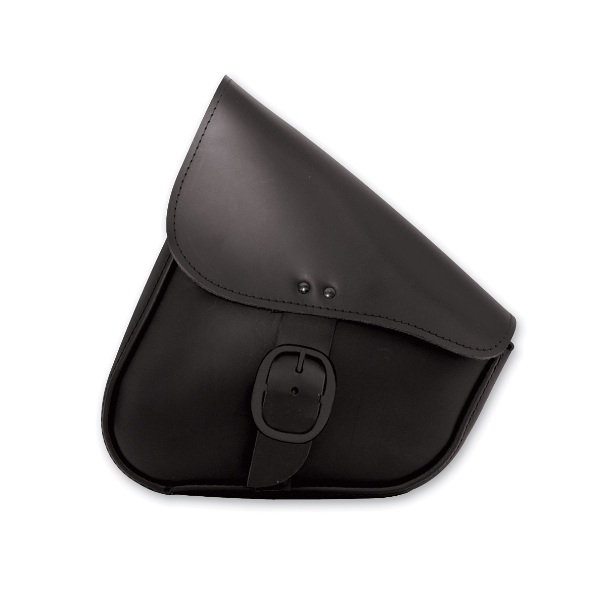 Willie & Max Black Leather Swingarm Bag with Black Buckle