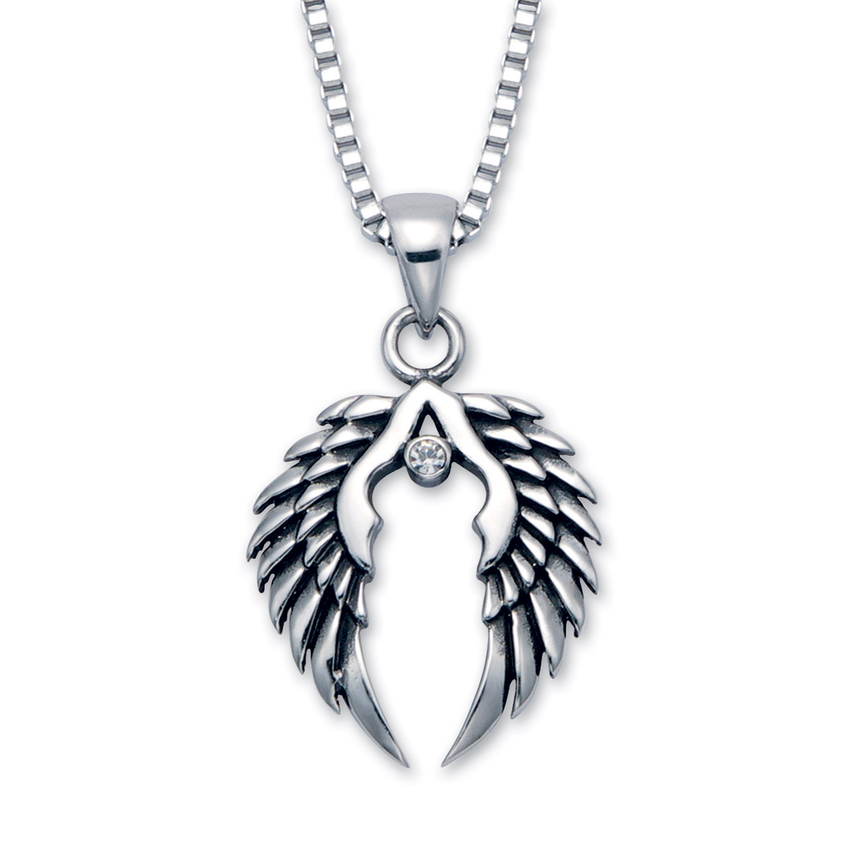 Wildthings Stainless Steel Necklace Wings with 20″ Chain