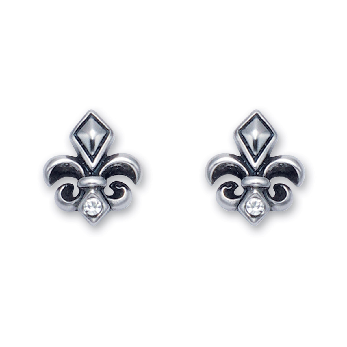 Wildthings Stainless Steel Stud Earrings Fleur De Lis