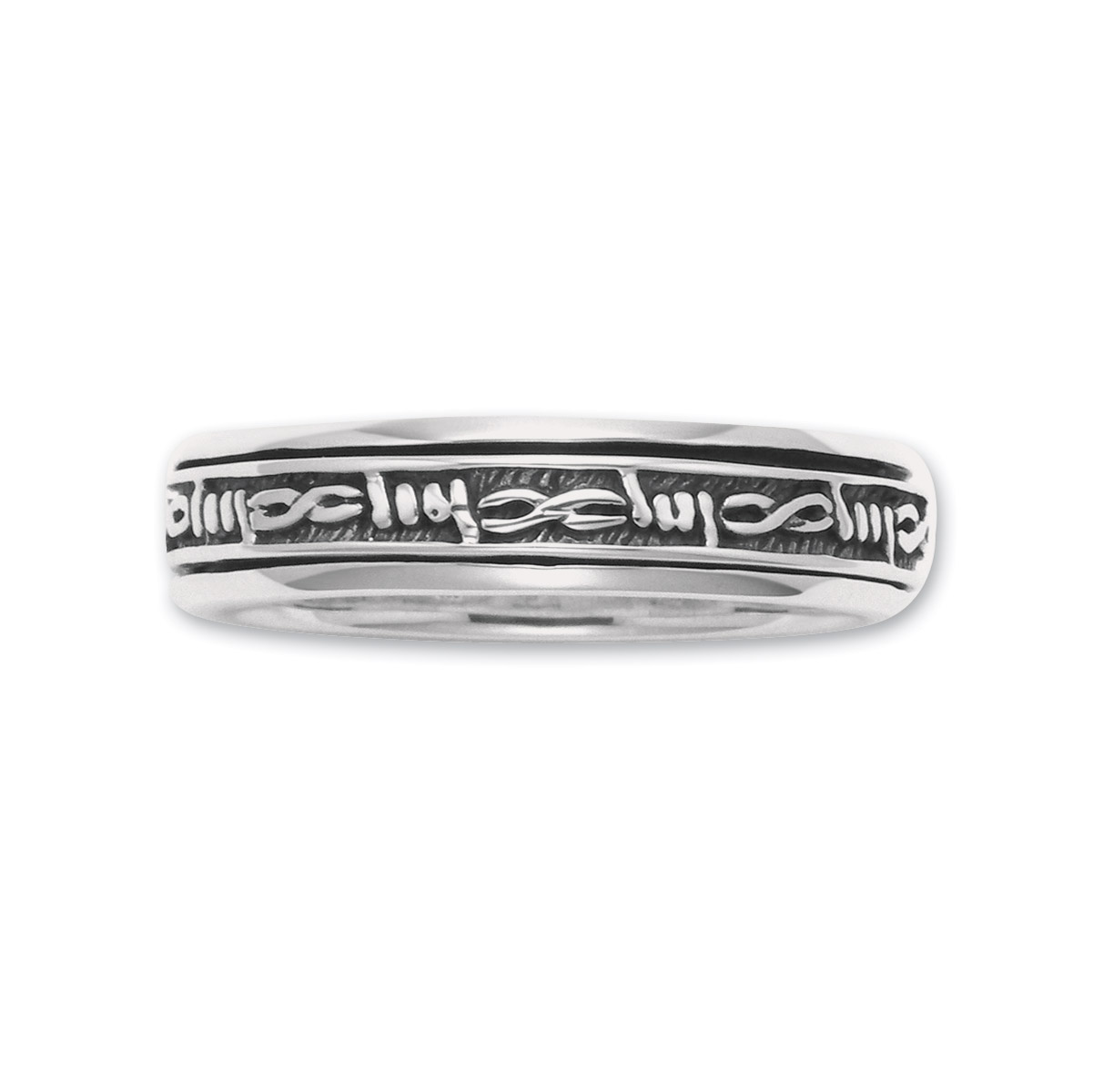 Wildthings Sterling Silver Thin Barbwire Spinner Ring