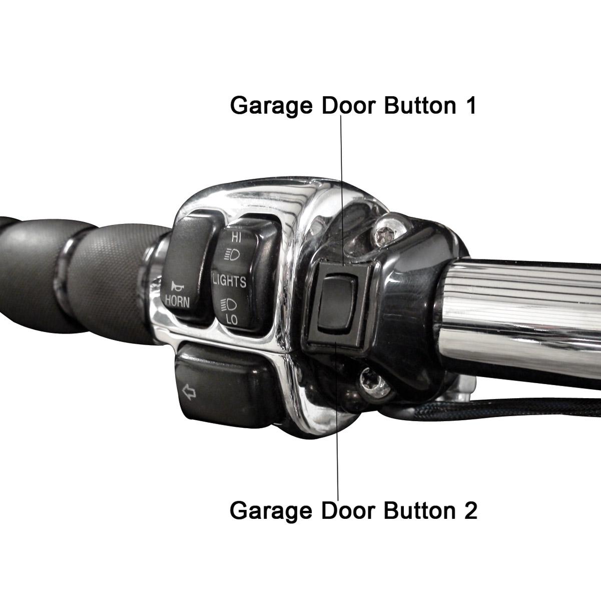 Grip Switch Dual Garage Door Opener Kit, Black