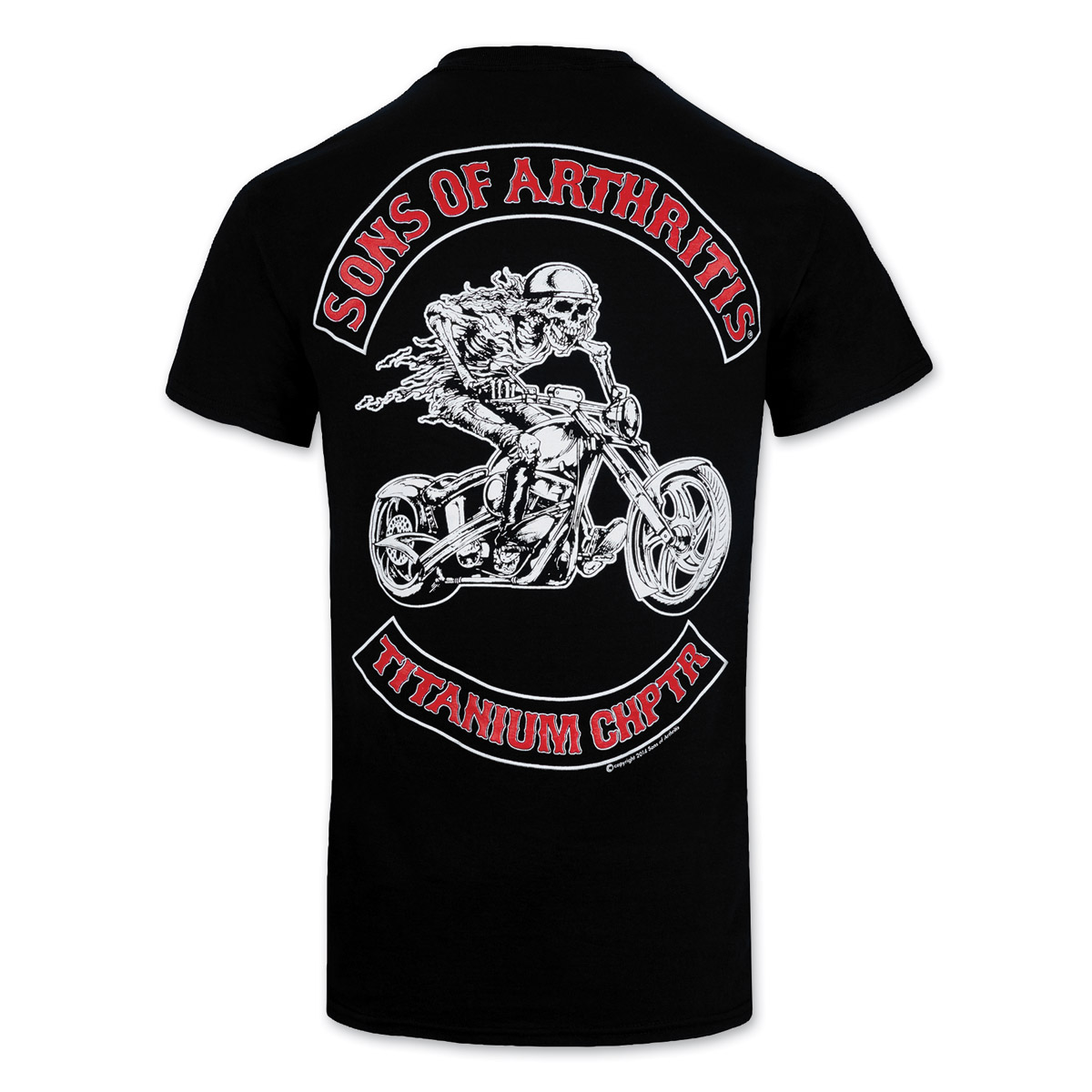 Sons of Arthritis Men's Titanium Chapter Black T-Shirt