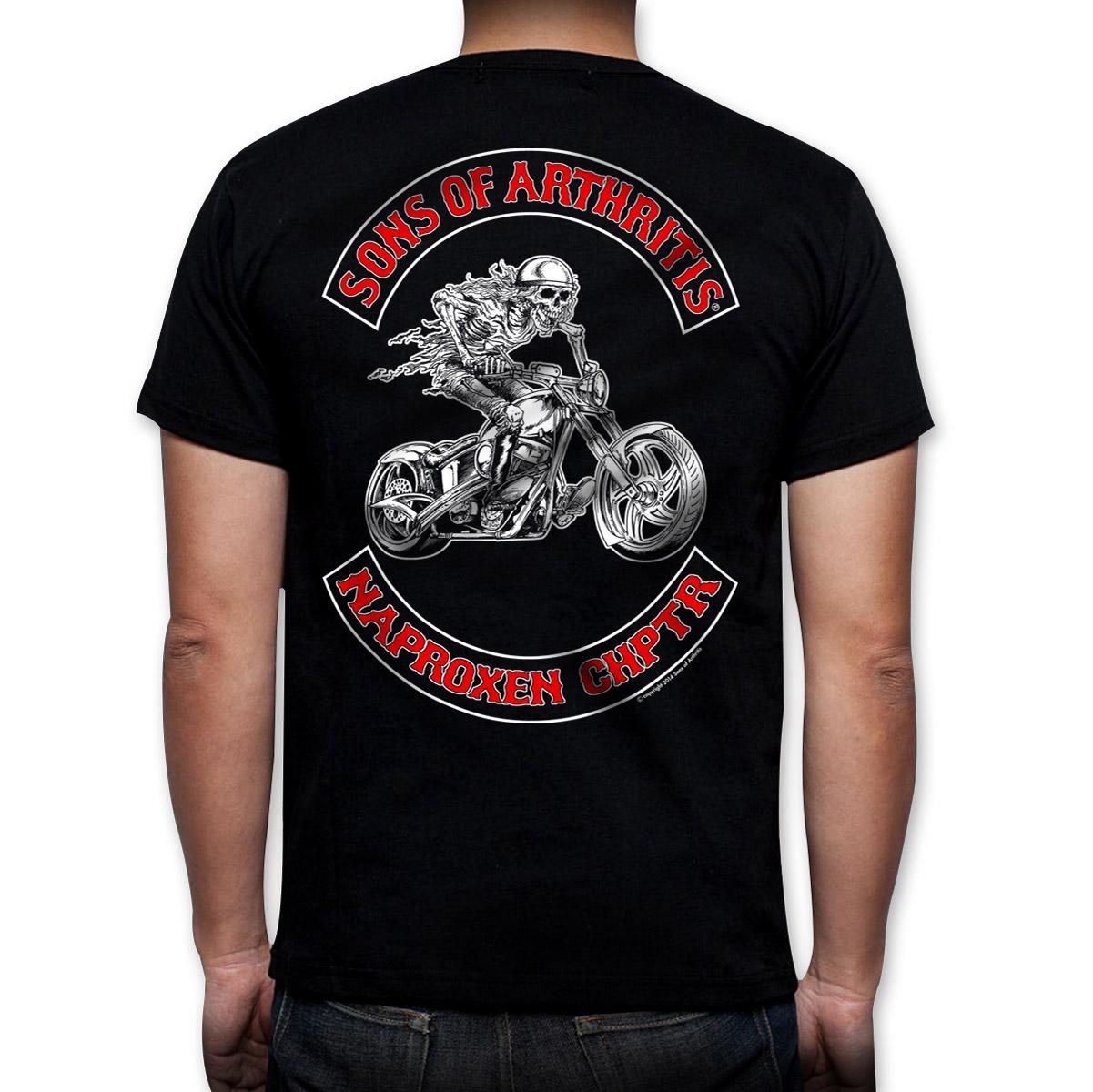Sons of Arthritis Men's Naproxen Chapter Black T-Shirt