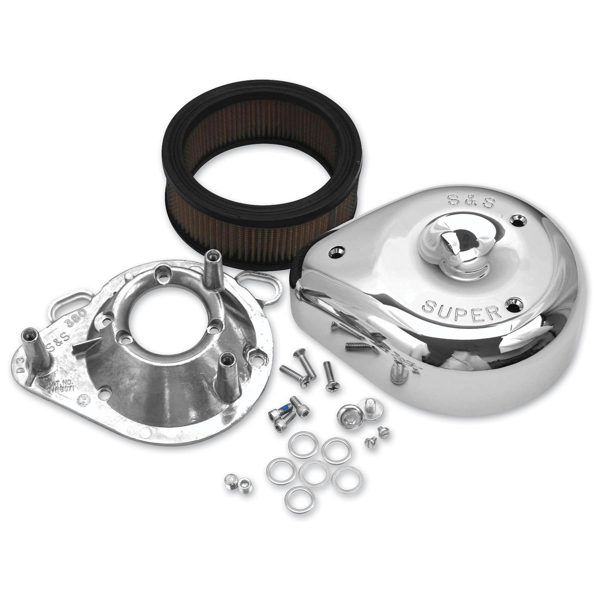 S&S Cycle Classic Teardrop Air Cleaner Kit
