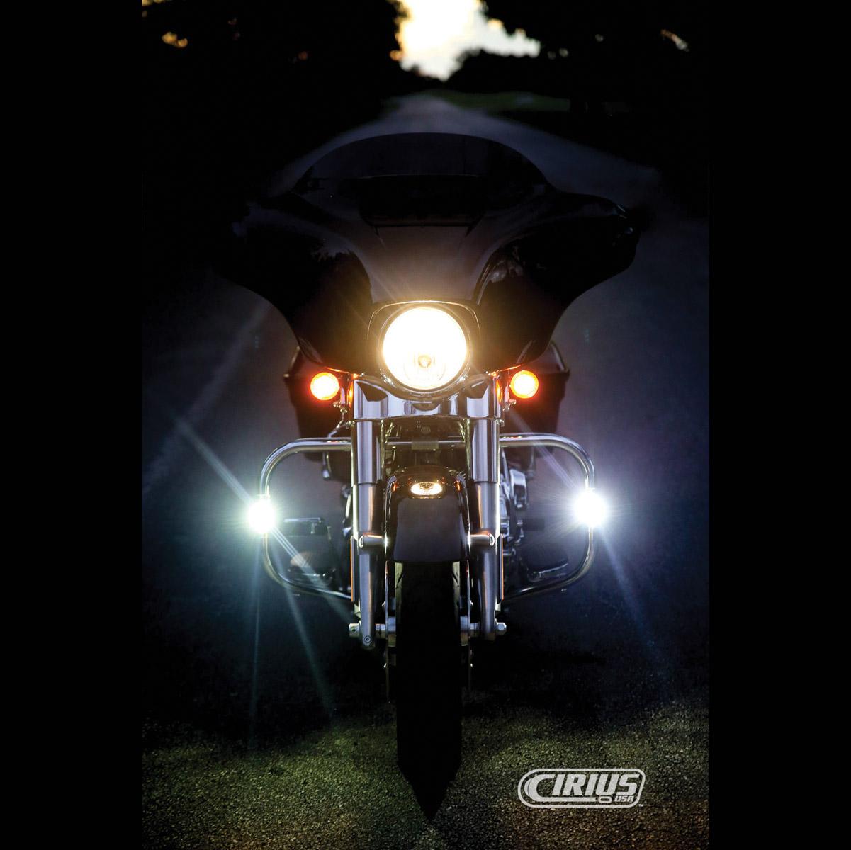 Cirius USA Polished Tube-Mounted White LED Lights for 1″ Bars