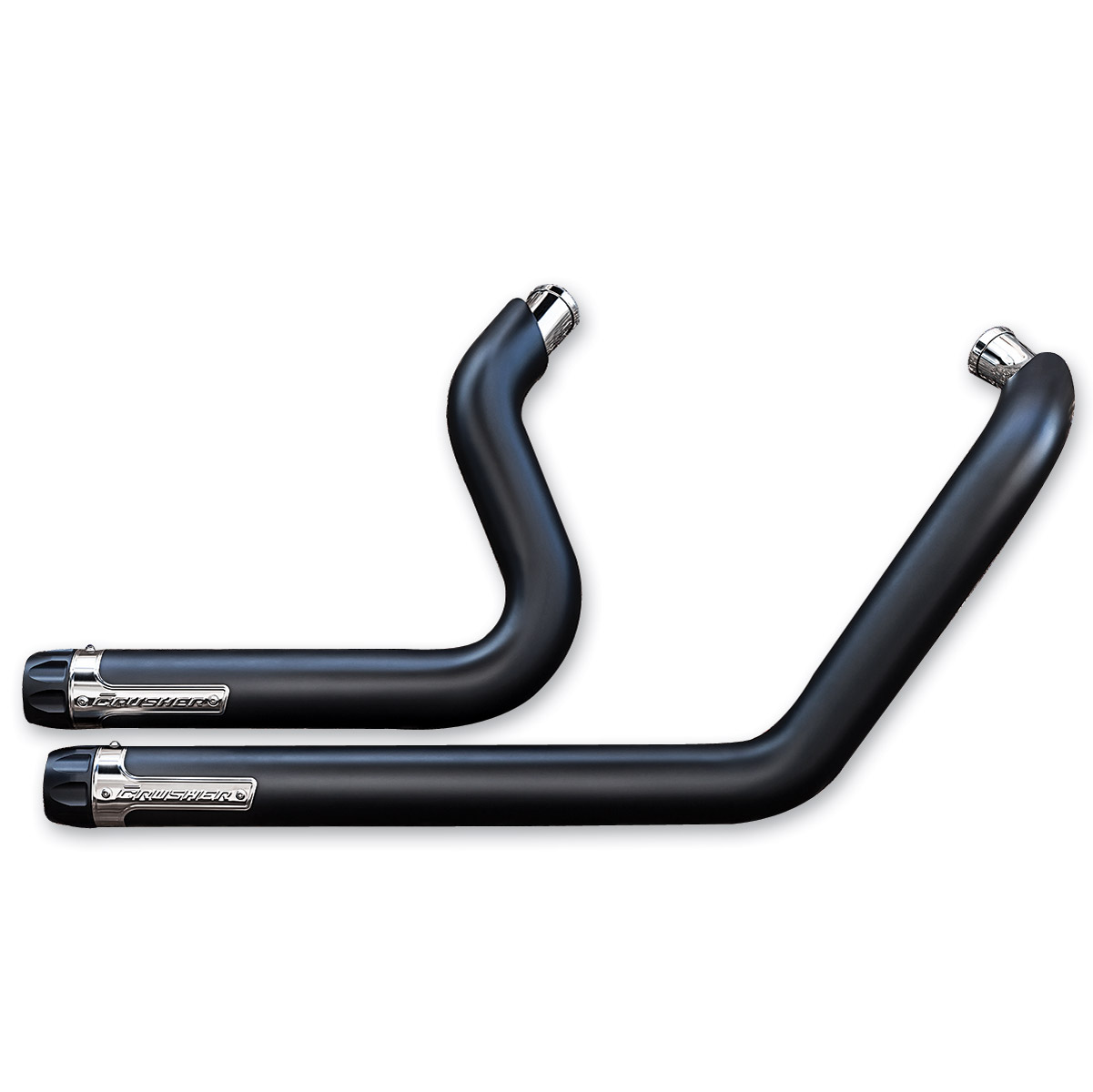 crusher maverick black 2-into-2 exhaust system | 162-886 | j&p cycles
