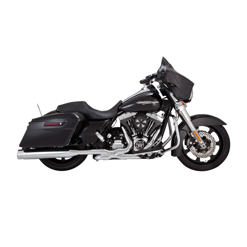 Vance & Hines Titan OverSized 450 Slip Ons Chrome with Chrome End Caps -  16549