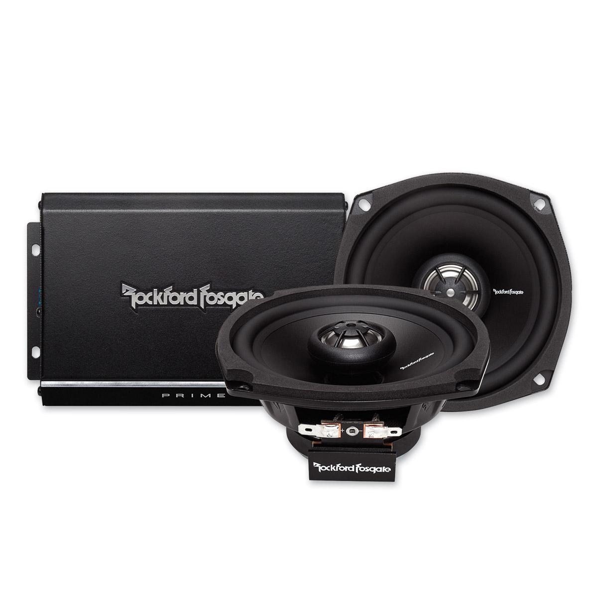 Rockford Fosgate Prime 140 Watt 2-Channel Amp and Speaker Kit