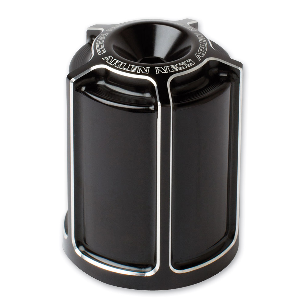 Arlen Ness Black Beveled Oil Filter Housing