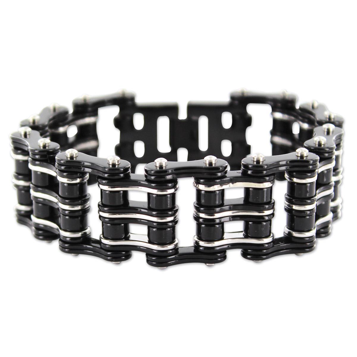 Kodiak Black/Silver Chain Bracelet