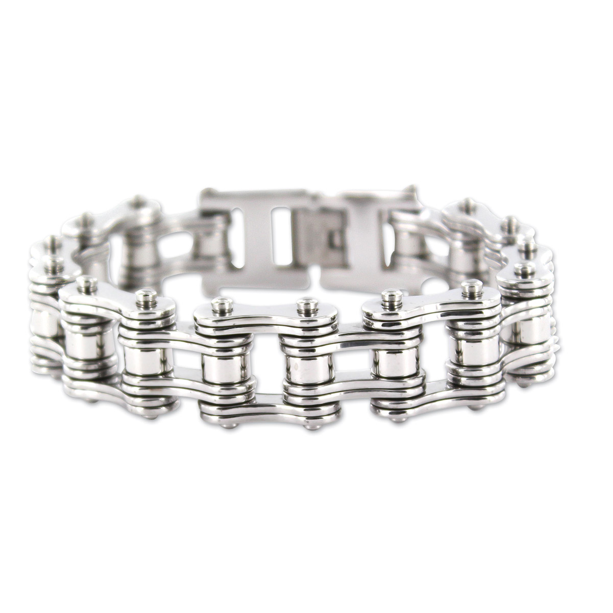 Kodiak All Silver Chain Bracelet