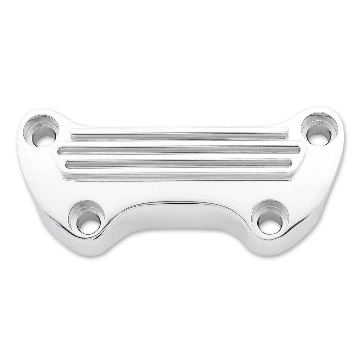 Milwaukee Twins Standard Finned Chrome Handlebar Top Clamp