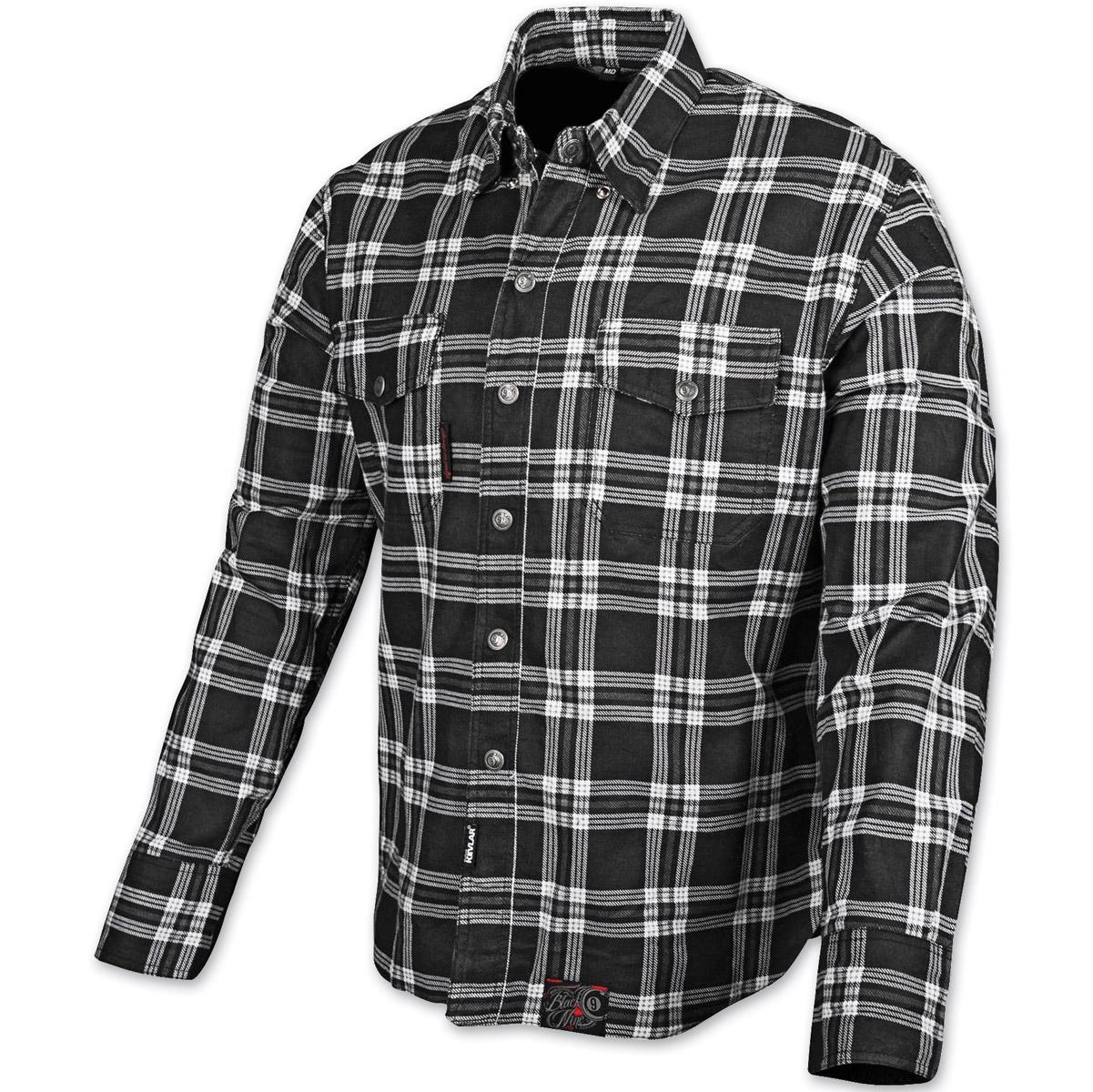 Speed and Strength Black Nine Black/White Flannel Moto Jacket