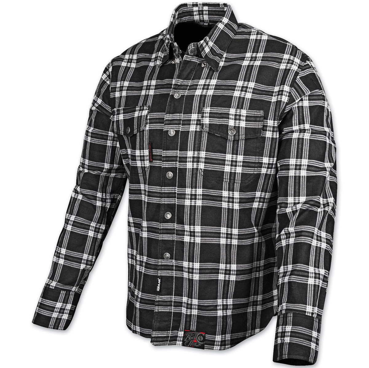 6458089309dc1e Speed and Strength Black Nine Black/White Flannel Moto Jacket ...