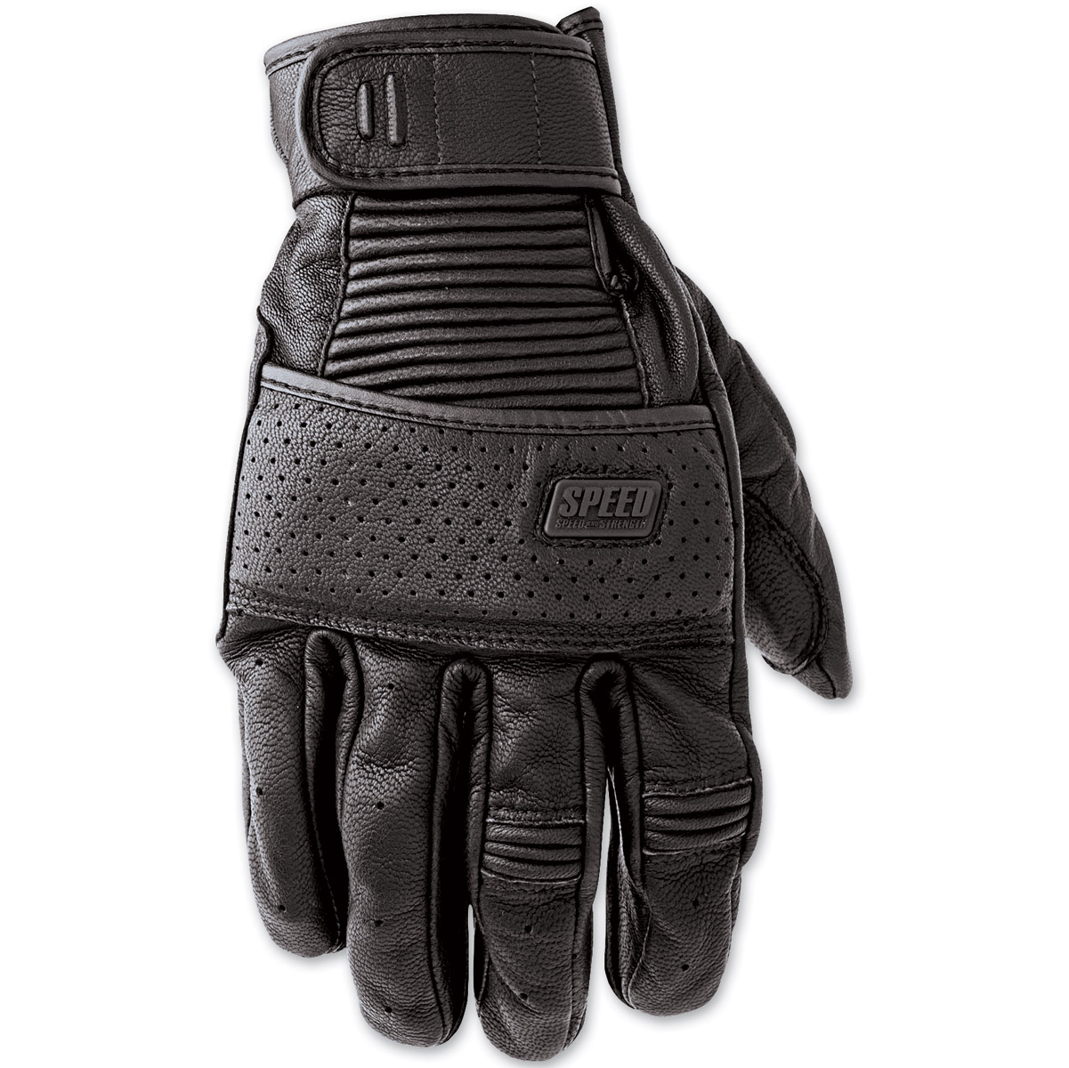 Speed and Strength Cruise Missile Black Leather Gloves