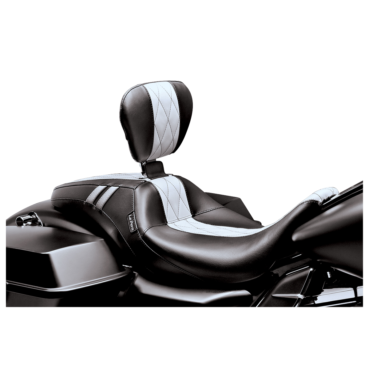 Le Pera White Diamond Outcast GT Seat with Driver Backrest