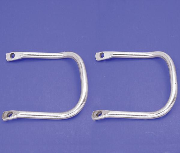 V-Twin Manufacturing Buddy Seat Chrome Handrail Set