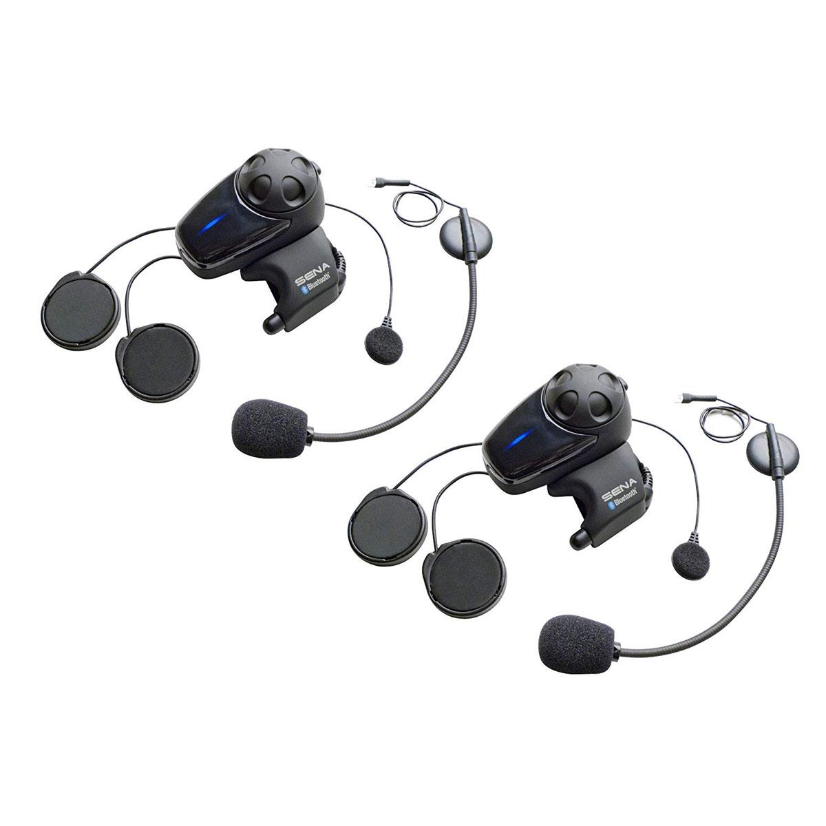 3de9fbdd32a Sena Technologies SMH10 MC Bluetooth Headset/Intercom with Universal Mic  Kit Dual Pack