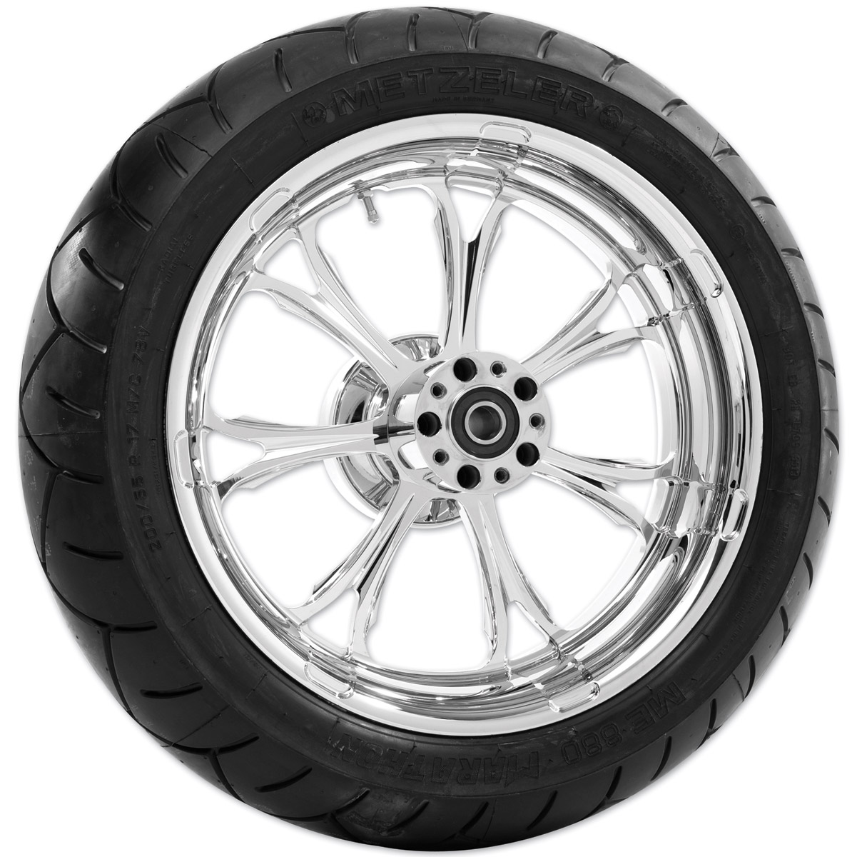 Performance Machine Paramount Chrome Rear Wheel Package, 17″ x 6″ without ABS