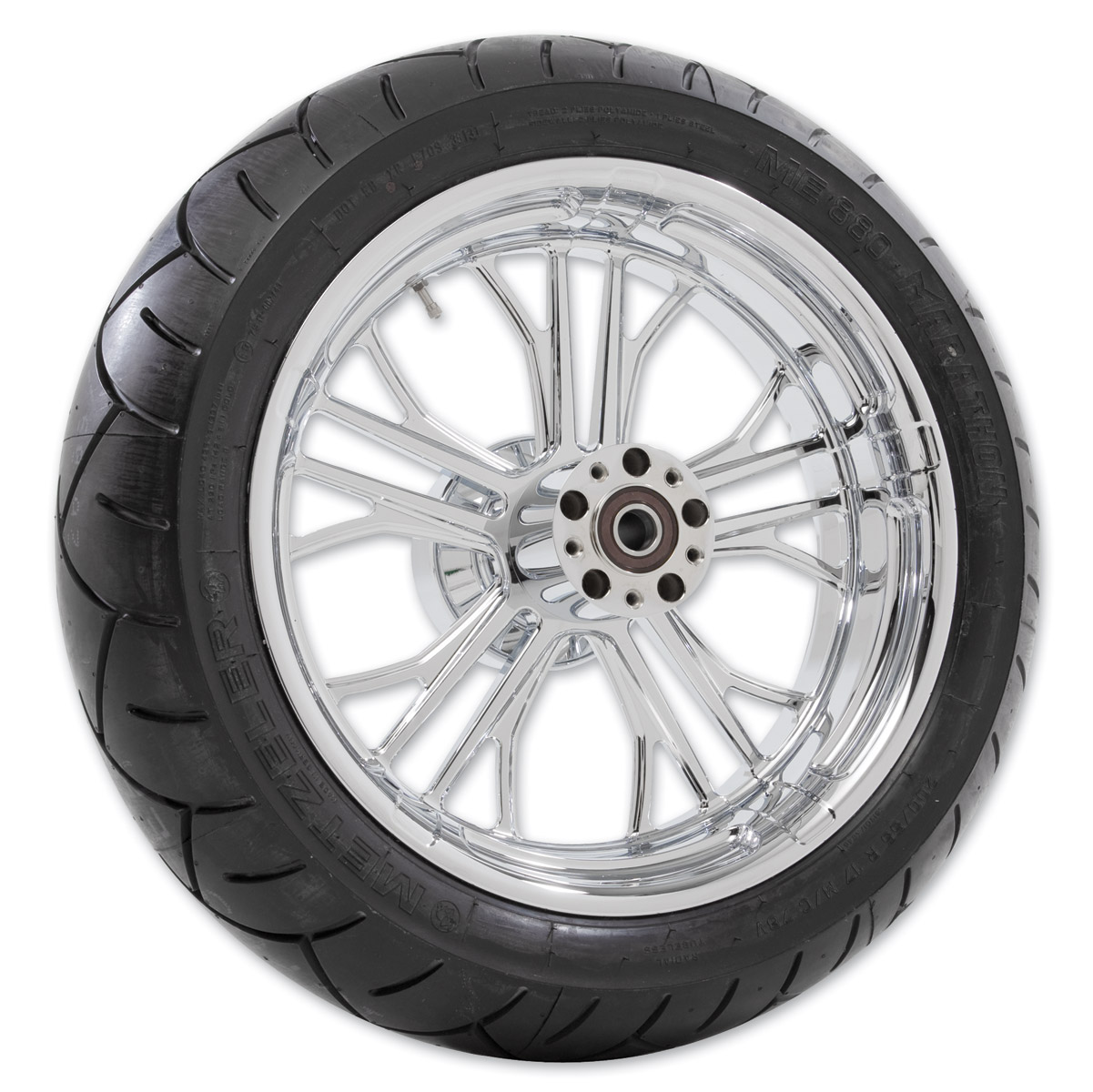 Performance Machine Dixon Chrome Rear Wheel Package, 17″ x 6″ without ABS