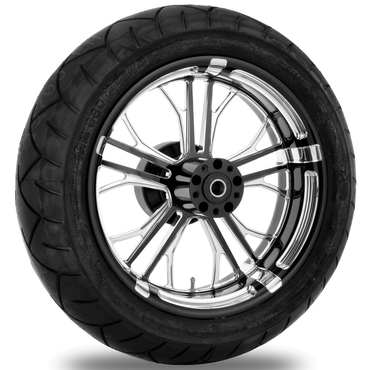 Performance Machine Dixon Contrast Cut Platinum Rear Wheel Package, 17″ x 6″ with ABS