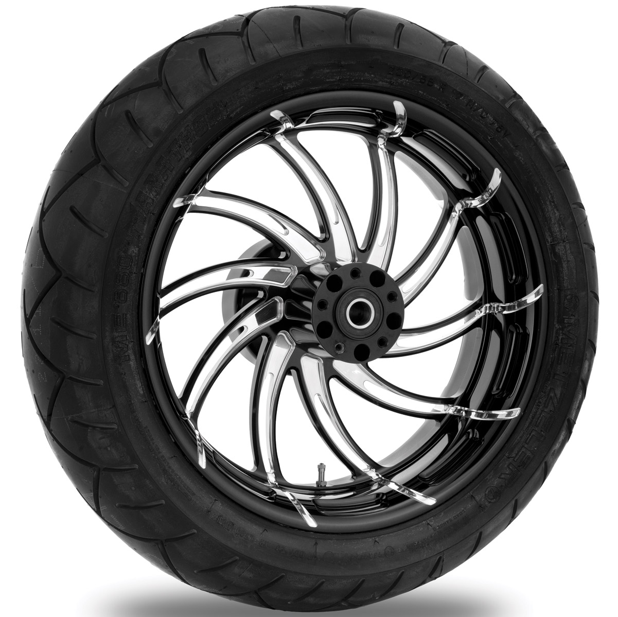 Performance Machine Supra Contrast Cut Platinum Rear Wheel Package, 17″ x 6″ with ABS