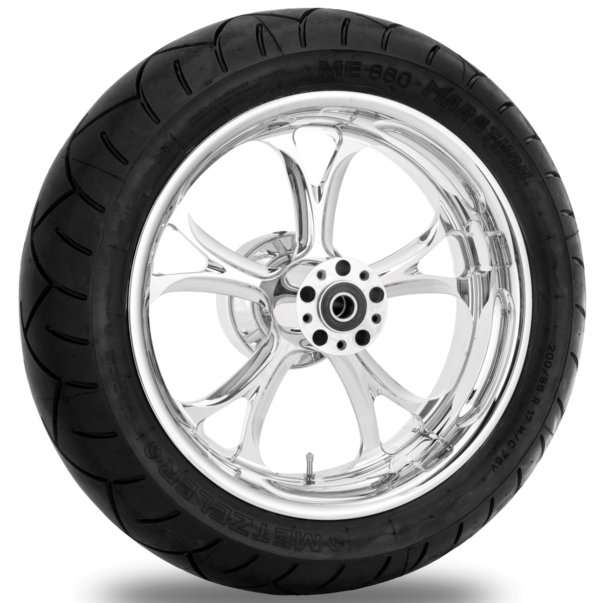 Performance Machine Luxe Chrome Rear Wheel Package, 17″ x 6″ with ABS