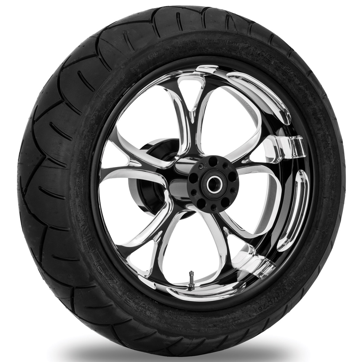 Performance Machine Luxe Contrast Cut Platinum Rear Wheel Package, 17″ x 6″ with ABS