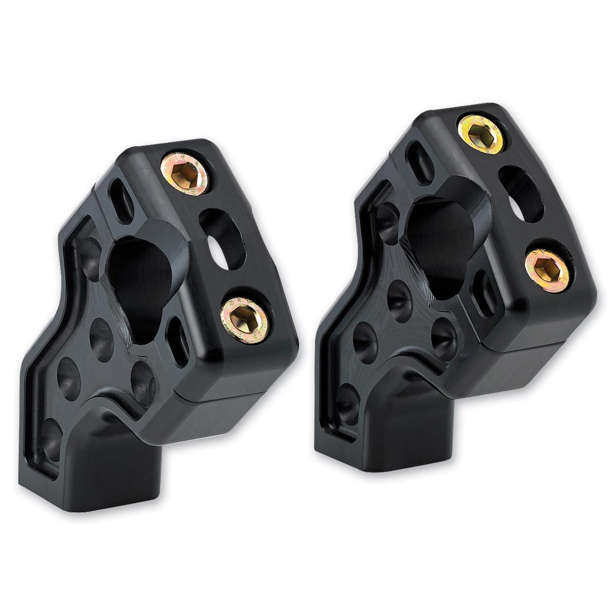 Joker Machine Black Dual Pullback Handlebar Risers - 03-866B