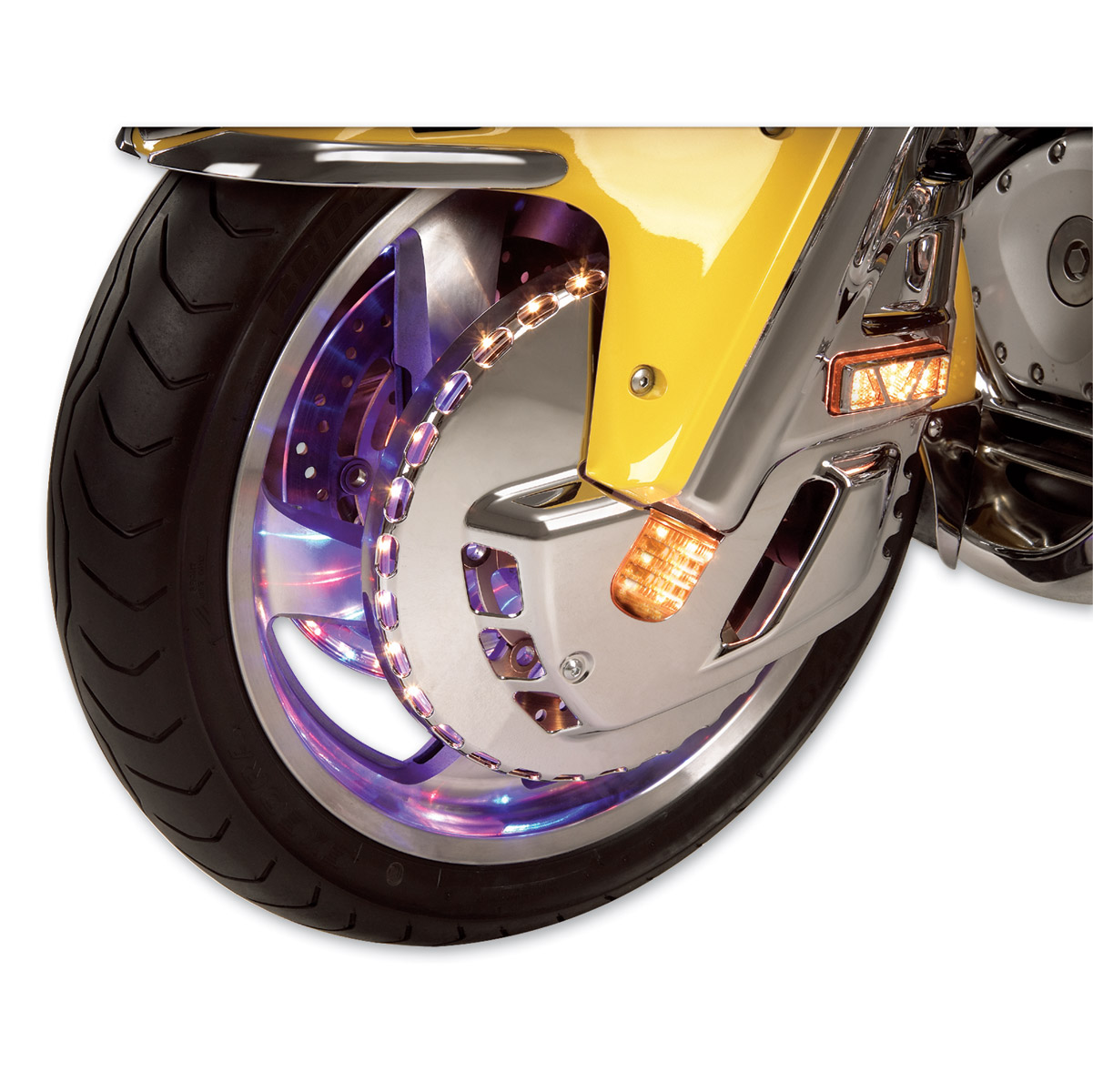 Show Chrome Accessories Tri-Color Front Rotor Covers