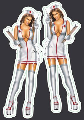 Lethal Threat Naughty Nurse Mini Decal