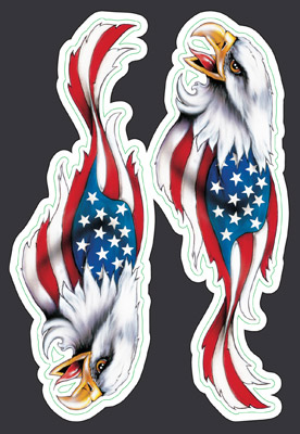 Lethal Threat USA Eagle Mini Decal Set