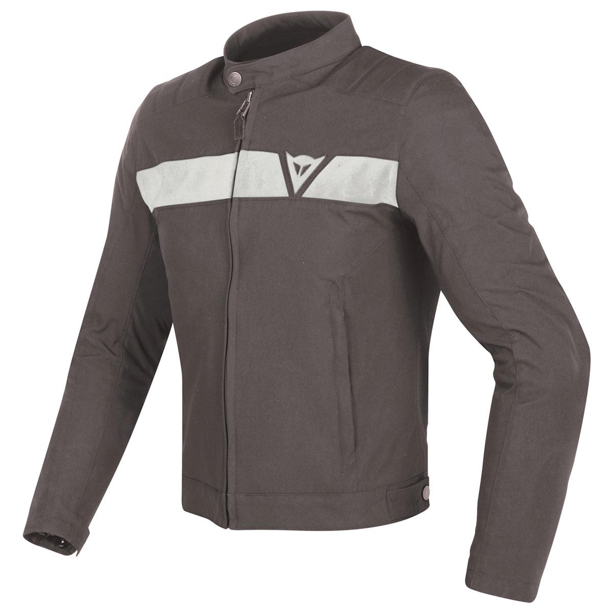 Dainese Men's Stripes Dark Brown/White Textile Jacket