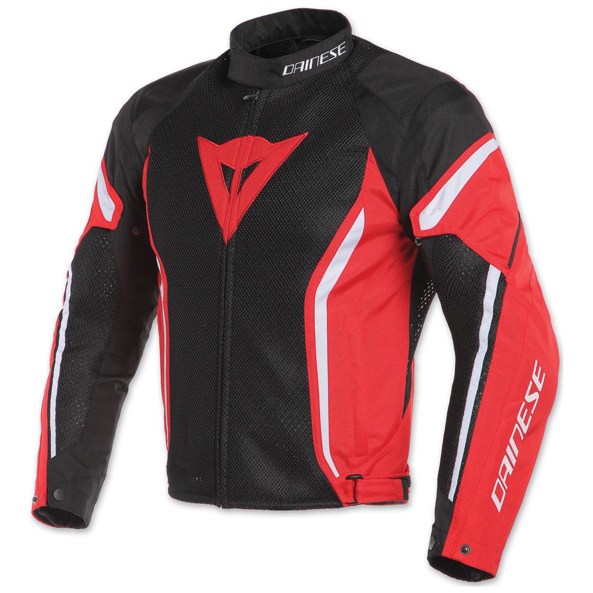 Dainese Men's Air Crono 2 Black/Red/White Textile Jacket
