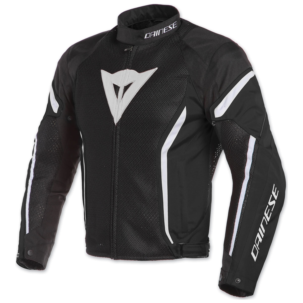 Dainese Men's Air Crono 2 Black/Black/White Textile Jacket