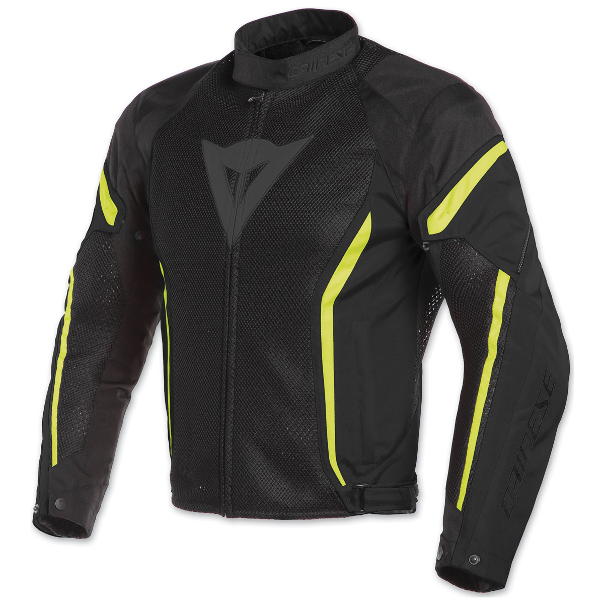 Dainese Men's Air Crono 2 Black/Black/Fluo Yellow Textile Jacket