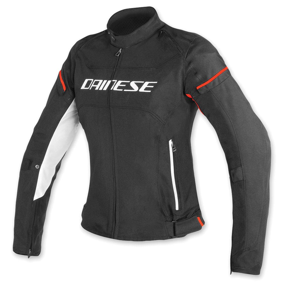 Dainese Women's D-Frame Black/White/Red Textile Jacket