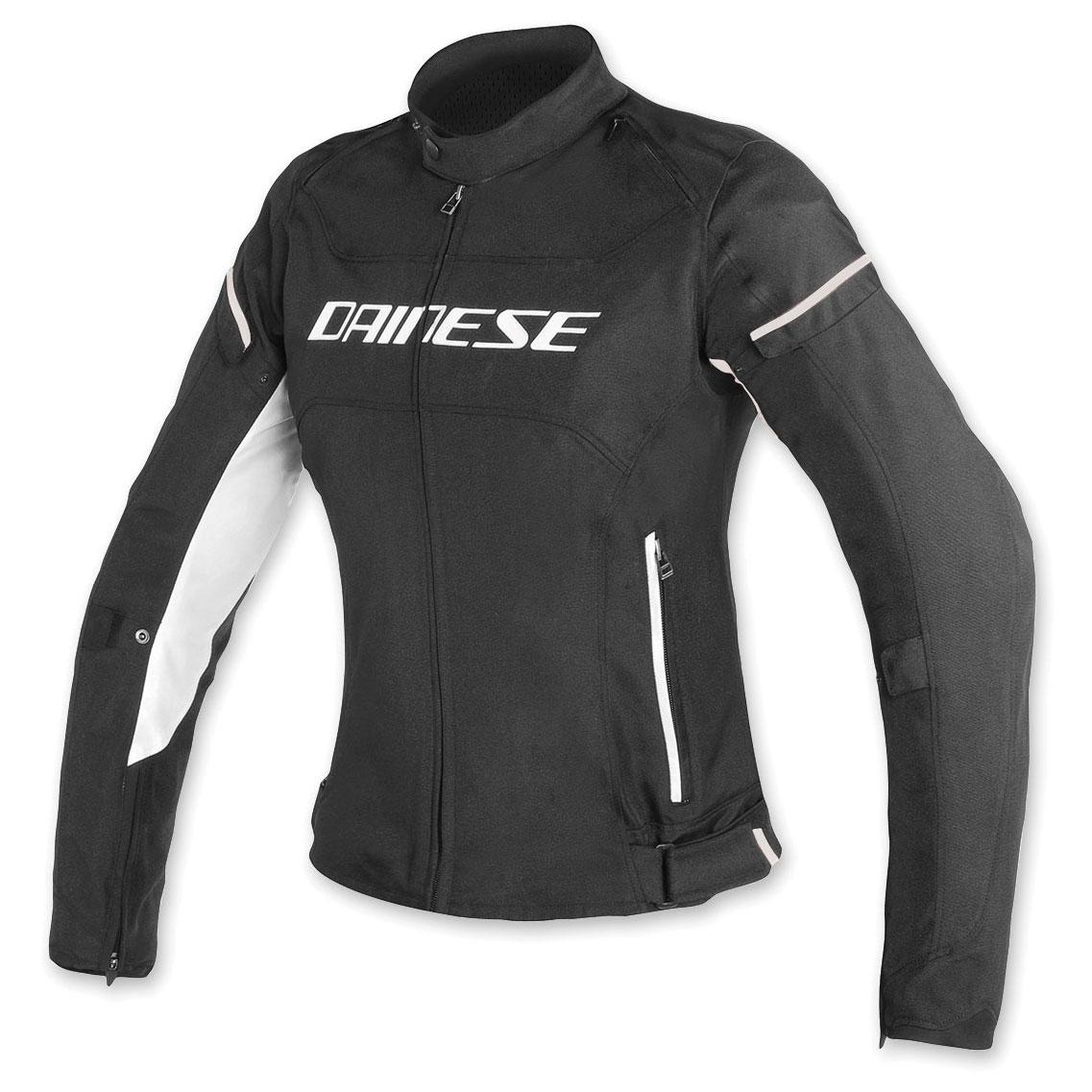 Dainese Women's D-Frame Black/White Textile Jacket