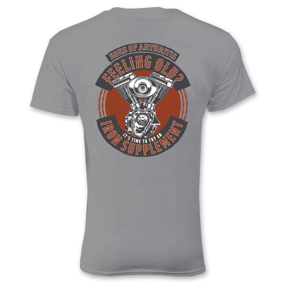 Sons of Arthritis Men's Iron Supplement Gray T-Shirt