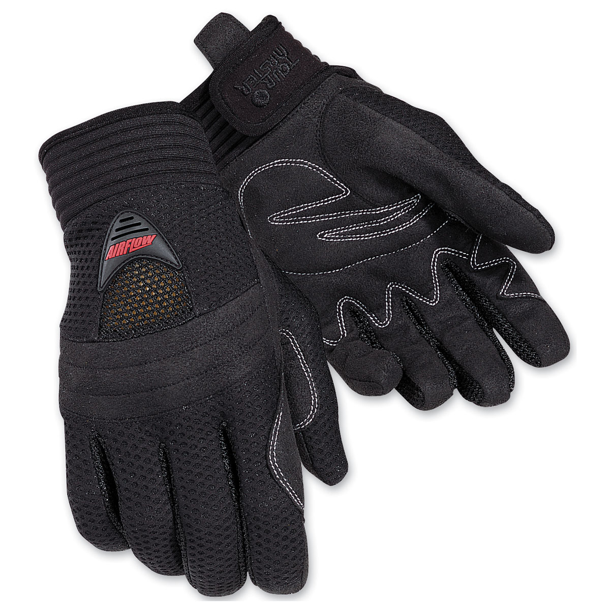 Tour Master Women's Airflow Black Gloves