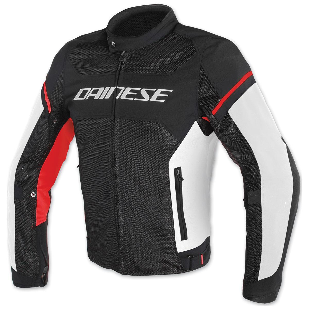 Dainese Men's Air Frame D1 Black/White/Red Jacket
