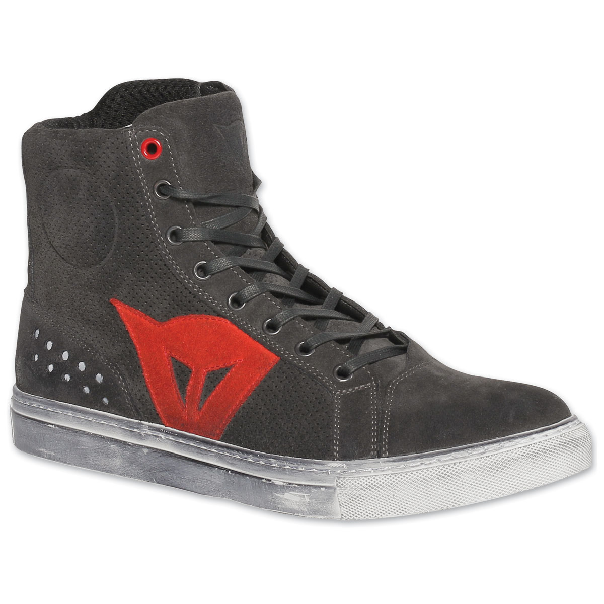 Dainese Men's Street Biker Air Carbon/Dark Red Shoes