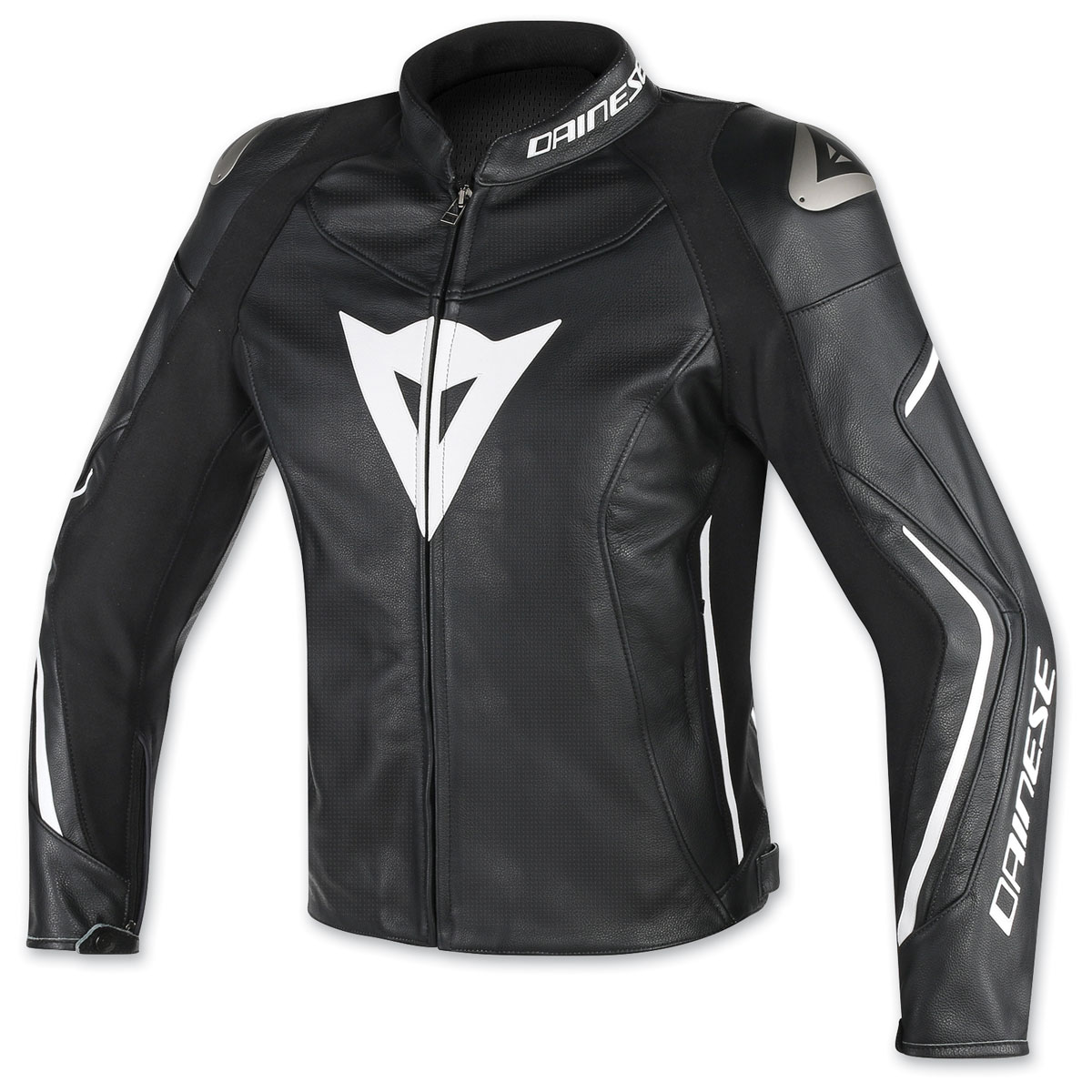 Dainese Men's Assen Perforated Black/White Leather Jacket