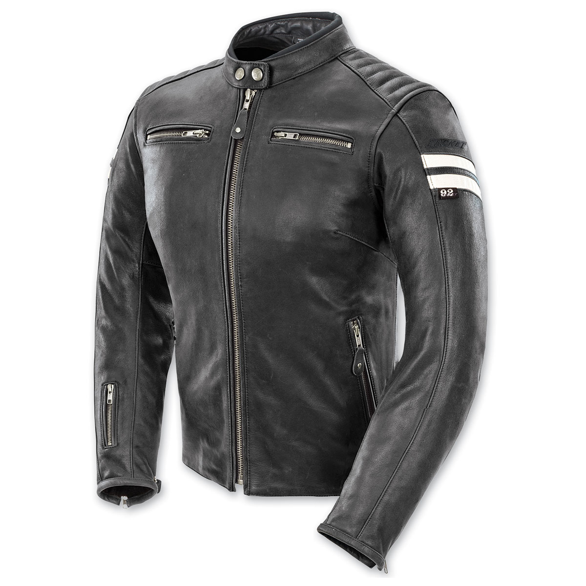 Joe Rocket Women's Classic '92 Black/White Leather Jacket