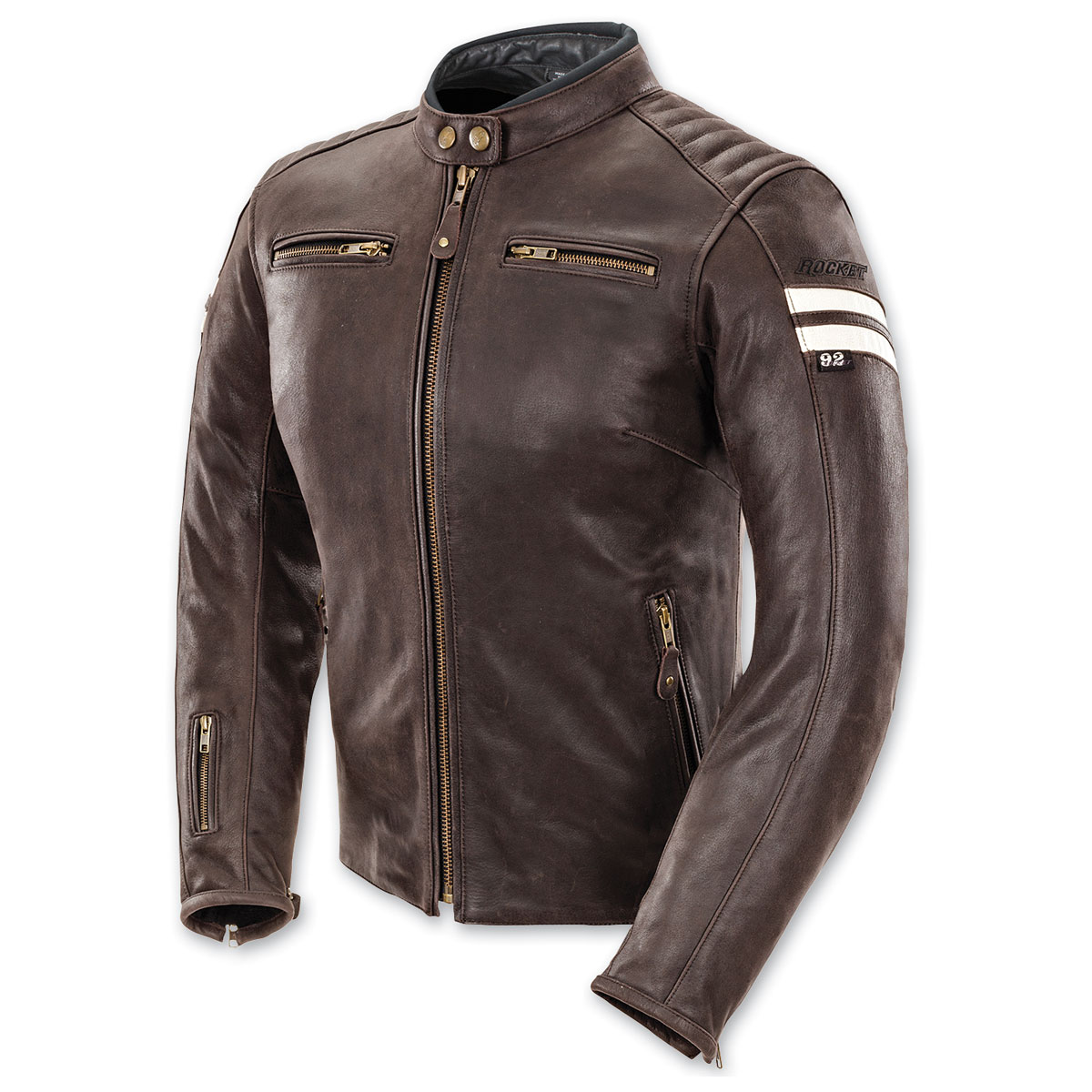 Joe Rocket Women's Classic '92 Brown/Cream Leather Jacket