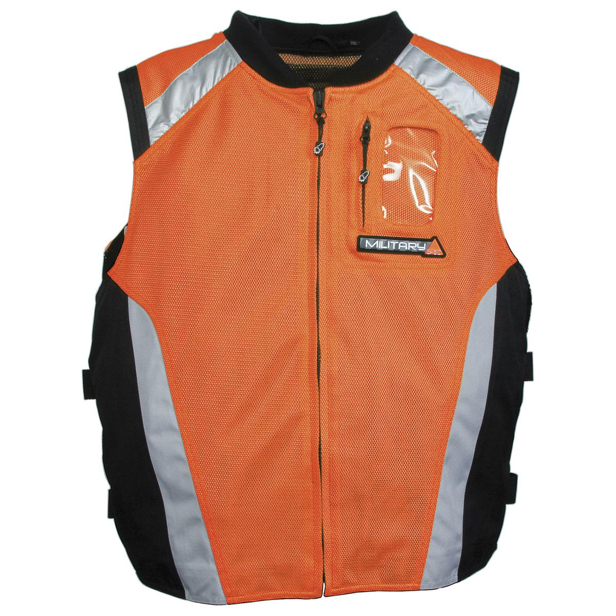 Joe Rocket Men's Military Spec Orange Mesh Vest
